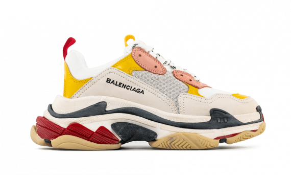 Balenciaga Triple S  White/ Ecru/ Black