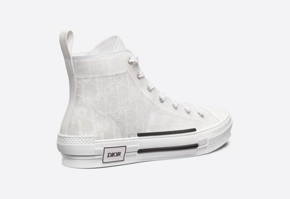 Dior High-Top White Oblique Canvas